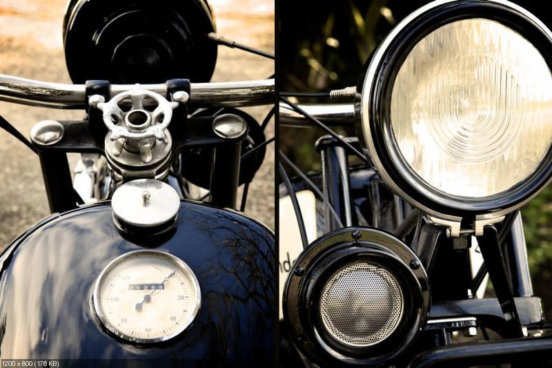 Старинный мотоцикл Windhoff 1928